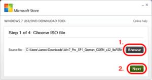 Windows 7 ISO auf USB Stick kopieren