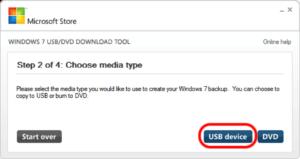 Windows 7 ISO USB-Stick zuweisen