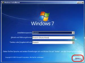 Windows 7 Installationsprozess Schritt für Schritt