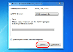 Windows 10 brennen