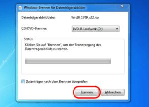 Windows 7 brennen